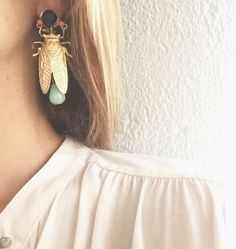 "595 Likes, 23 Comments - Bolfate (@bolfate) on Instagram: ""🍃#earrings #insect #handmade #bolfate #jewelry #jewelrydesign #jewels #summer #accesories #june"""