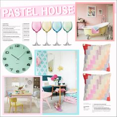Pastel home! by anisha-b on Polyvore featuring polyvore, interior, interiors, interior design, home, home decor, interior decorating, LSA International, Karlsson and Wildon Home