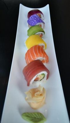 """Actual """"rainbow"""" roll"""