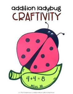 Addition Ladybug Craftivity by Miss M's Reading Resources | TpT
