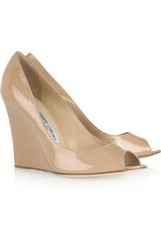 nude bello wedges by jimmy choo