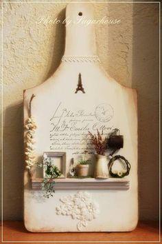 Hermosa tabla de cocina con miniaturas ♡ ♡