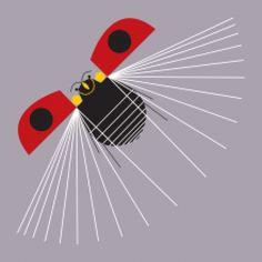 *Ladybug, Fly Away Home! ~ Charley Harper!