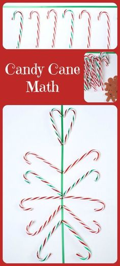 Candy Cane Math for Kids...five fun hands-on math activities using candy canes #candycanemath #preschool #kindergarten #christmaswithkids