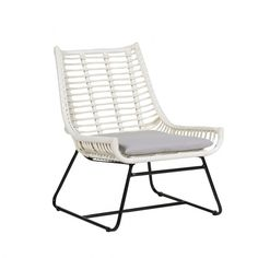 Palm Springs Plaza Lounge Chair White (680 CAD) ❤ liked on Polyvore featuring home, outdoors, patio furniture, occassional chairs, white outdoor patio furniture, outdoor garden furniture, outside patio furniture, rattan lounge chair and outdoor patio furniture