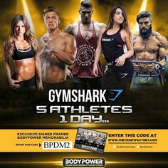 Gymshark comfirmed for @bodypowerexpo 2016. Use code BPDM2 when purchasing tickets to receive a signed and framed print at the expo #gymshark #stevecook #lexgriffin #paigehathaway #rossdickerson #jazminegarcia #bodypower #bodypowerexpo #ambassador #beinspired #motivation #inspiration #uk #fitness #health  @dickersonross @stevecook @jazzypooo @lex_fitness @paigehathaway by danny241008
