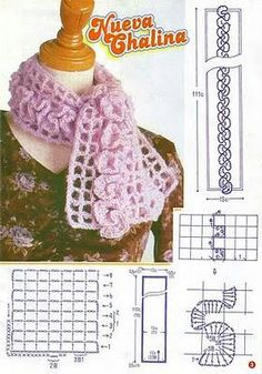 Crochet Scarf with ruffles