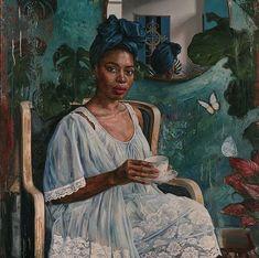 Tim Okamura, Afrique Art, Afro Art, Black Artists, High Art, Black Women Art, African Culture, Female Art, Art Images