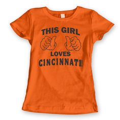 646a1afe9 THIS GIRL Loves CINCINNATI - funny hip vintage bengals cool football fan  jersey bungals nati sports