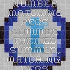 Number Matching Pegs Summer Themed - summer, matching, pegs