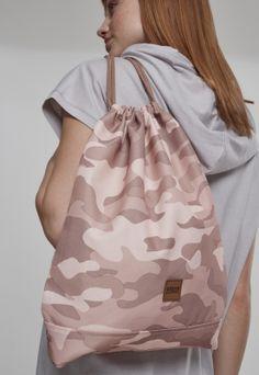 Geanta sala rose-camuflaj Urban Classics Farmer, Drawstring Backpack, Camouflage, Oxford, Backpacks, Leggings, Urban, Sport, Rose