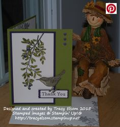 Thank you card created using An Open Heart Stamp Set from Stampin' Up! http://tracyelsom.stampinup.net