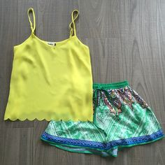 """""""These print shorts and yellow tank are a definite summer must haves.  For pricing and size availability, please call us at 786-740-1407 or email us at r2cboutique@gmail.com  #LooksWeLove #OutfitsWeLove  #SummerStyle #Boutique #Fashion #Summer #Style  #Weekend #OOTD #OOTN #Miami #swim #onlineboutique #CoralGables #Pinecrest #SouthMiami #SouthBeach #Wynwood #PembrokePines #Midtown #Kendall #MiamiLakes #Downtown #tagforlikes #tagyourbestie #tagyourfriends"""" Photo taken by @racktocloset on…"""
