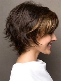 Large sky by noriko wigs в 2019 г. hair cuts pixie haircut s Layered Haircuts For Women, Short Layered Haircuts, Short Hairstyles For Thick Hair, Short Hair With Layers, Curly Hair Styles, Pixie Haircuts, Layered Short Hair, Bob Hairstyles, Teenage Hairstyles