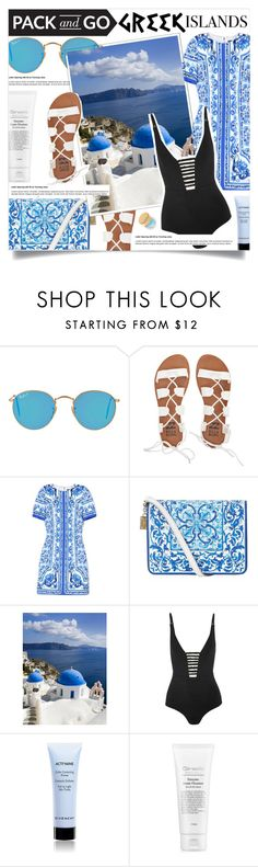 """SANTORINI VIBE."" by fairouze on Polyvore featuring Ray-Ban, Billabong, Dolce&Gabbana, Zimmermann, Givenchy, tarte, Packandgo and greekislands"
