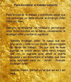 #UniversoDeAngeles  Oración al arcángel Jofiel para encontrar el trabajo correcto.
