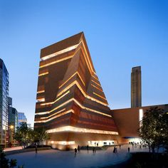 Images of architects Herzog & de Meuron's extension to the Tate Modern art gallery in London