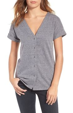 Treasure&Bond Button Front Tee available at #Nordstrom