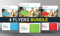 4 Corporate Business Flyers Bundle by Business Templates on @creativemarket