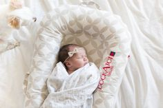 We have one other sidekick to thank for our first weeks at home being so easy, and that's the DockATot…aka the baby sleep whisperer. To shop this amazing portable baby bed, visit dockatot.com