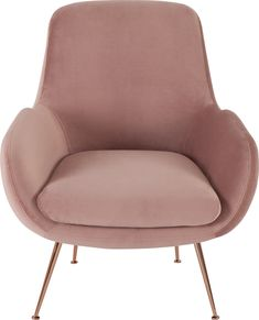 Moby Accent Chair, Vintage Pink Velvet from Made.com. NEW In the battle of comfort vs. style - Moby's going for gold. Sink into the deep padded seat..