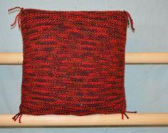 taie d'oreiller tricoté par woolandcotonandlinen sur Etsy