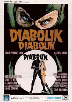 "MP549. ""Diabolik"" Italian Movie poster by Renato Casaro (Mario Bava 1968) / #Movieposter"