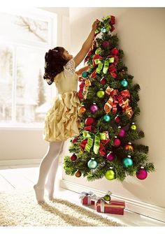 Плоские новогодние елки на стене: 6 поделок своими руками (31 фото) | Из бумаги | DecorWind.ru