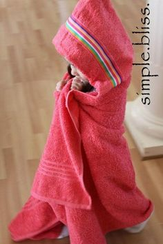 How to make a hooded towel. These are seriously the BEST baby/toddler/child towels because they are big enough to fit all three phases!