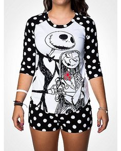 Nightmare Before Christmas Shirt Boxer Pajama Set Lazy Day Outfits, Cool Outfits, Fashion Outfits, Gothic Fashion, Jack Skellington, Grunge Style, Christmas Pajamas, Halloween Pajamas, Christmas Clothes