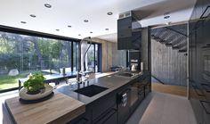 keuken, Ultra Architects, Polen, beton, minimalistisch, seasoude - De prachtige combi van beton & hout - Wonen voor mannen