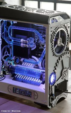 NeSSa's Chrono-Master project is carefully crafted on this CM Mastercase 5 PRO with tempered glass. This customizable cooling solution is out of this world! #casemod #DIYPc