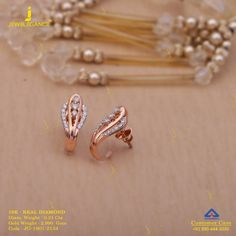 Get In Touch With us on Gold Jewelry Simple, Simple Earrings, Gold Filled Jewelry, Jewelry Design Earrings, Gold Earrings Designs, Gold Designs, Diamond Earrings Indian, Gold Bridal Earrings, Silver Jewellery Indian