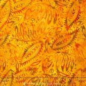Sumatra Batiks ll - Ethnic Leaf Orange Yardage