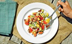 Summer Corn Salad - lovely, healthy and different salad with lots of great textures and flavours.