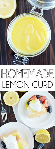 Four simple ingredients and 10 minutes at the stove is all that stands between you and this creamy, dreamy homemade lemon curd! ~ Something Swanky Lemon Dessert Recipes, Lemon Recipes, Sweet Recipes, Dessert Sauces, Summer Recipes, Just Desserts, Delicious Desserts, Dips, Lemon Curd Recipe