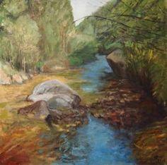Original Landscape Painting by Ellen Fasthuber-huemer Oil On Canvas, Saatchi Art, Original Paintings, Water, Artist, Landscapes, Gripe Water, Paisajes, Scenery