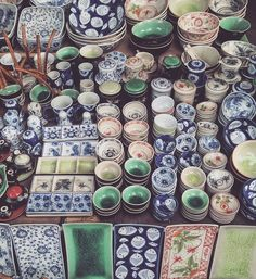 """one of the best ways to indulge in the local scene, is to visit the markets  #hoianancienttown #ceramics #kitchenware #pretttlittlethings #Vietnam…"""