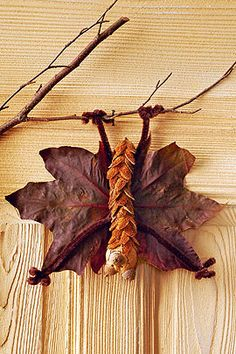Coole Fledermaus aus Blättern und Zapfen. Perfekt für den Herbst. I © Christophorus Verlag