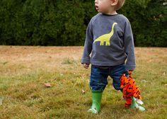 neon dinosaur sweater inspired by mini-boden (oliver + s field trip raglan)