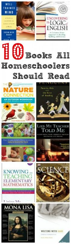 Books all homeschoolers should read- these look great!