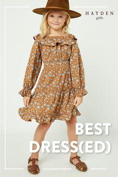 Girls Dresses Tween, Dresses For Tweens, Tween Girls, Outfits For Teens, Tween Fashion, Little Girl Fashion, Toddler Fashion, Fashion Outfits, Teens Clothes