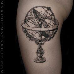 Atlante atlas etching blackline tattoo milano tatoo for Atlante compass