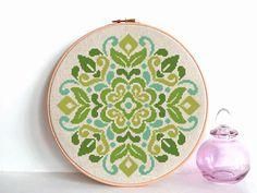 modern cross stitch pattern flowers ornament national