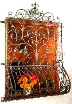 . Iron Window Grill, Window Grill Design, Iron Windows, Windows And Doors, Window Bars, Metal Grid, Iron Art, Iron Gates, Metal Fabrication