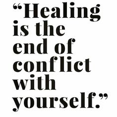 Healing is the end of conflict with yourself. Wise words from @stephanie_gailing ... This is the time to let go of all of those internal conflicts that are holding you back. If you need help doing this, reach out to a trusted friend or professional coach/