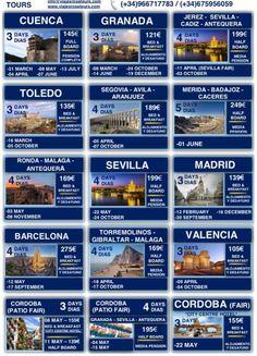 Tours con transporte y hotel incluidos para todo el 2016 www.viajesrosatours.com info@viajesrosatours.com (+34)966717783  (+34)675956059
