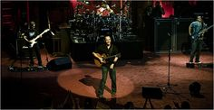 Dave Matthews Band: A group used to performing in stadiums played at a much smaller site, the Beacon Theater, on Monday. The show was broadcast live on the Fuse cable channel. Credit Chad Batka for The New York Times, JUNE 2, 2009.