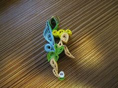Disney Tinkerbell Pendant, quilled
