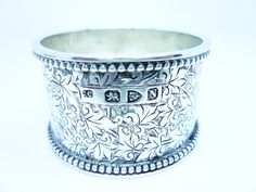Quality Solid Silver Napkin Ring Sterling Antique by DartSilverLtd